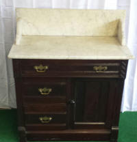 EarlyMarbleTopWalnutCommode